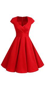 1950s vintage dress forwomenvneckyellowdressforsummer cocktaildressshortdressforwomenplussizepleated