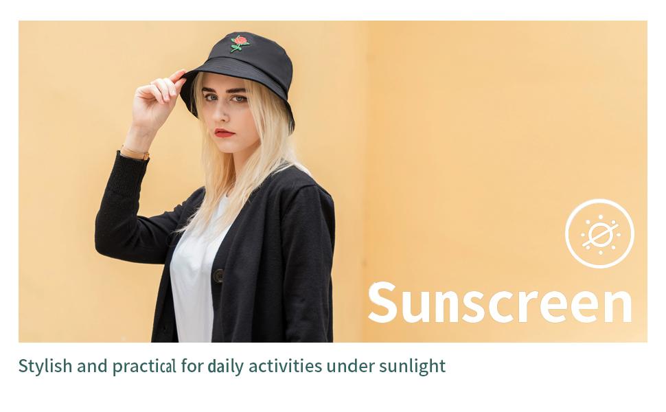 cappello del sole del ricamo