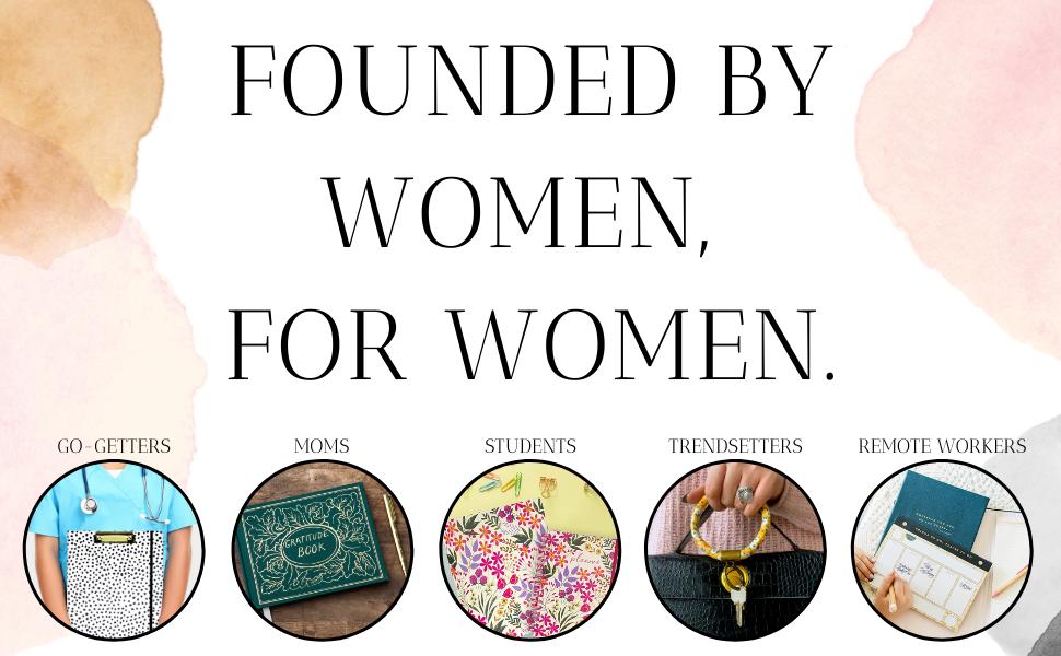 Desk accessories, travel essentials, and school supplies for women, teen, girls.