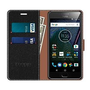 COODIO Funda Motorola Moto G5 Plus con Tapa, Funda Movil Motorola ...