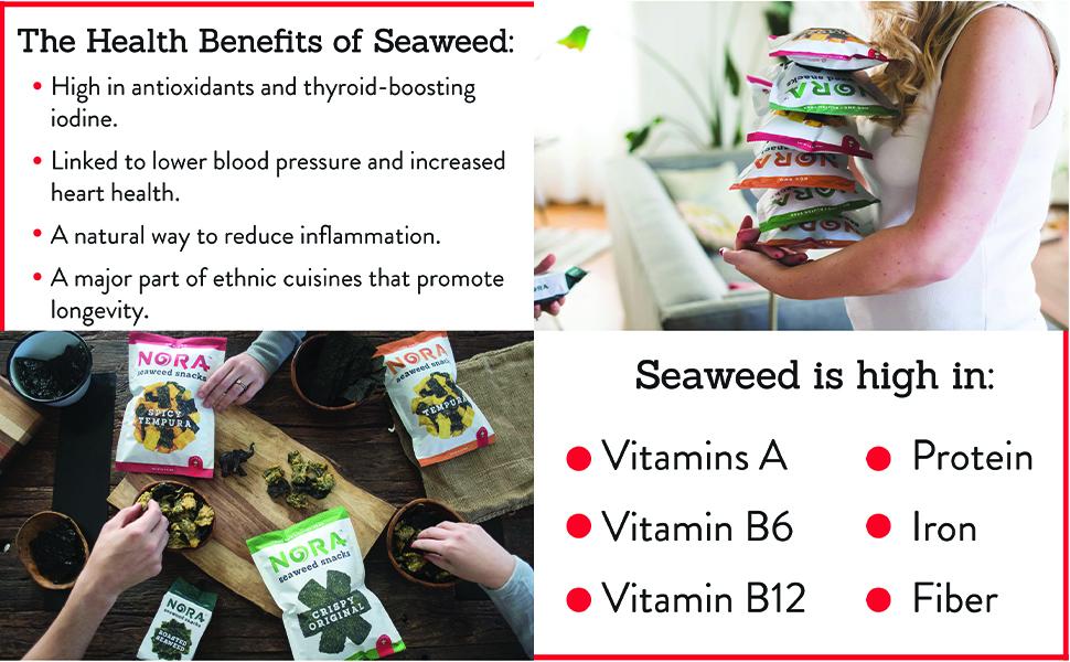 seaweed health benefits vitamins protein iron fiber b6 b12