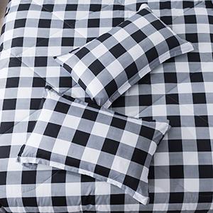 Grey Pliad Comforter Set