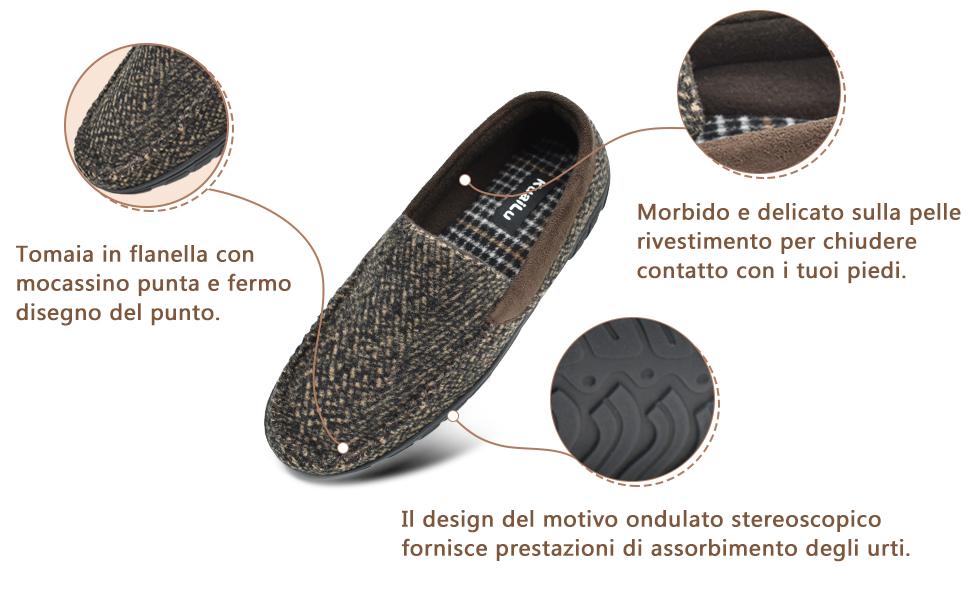 mens slippers gray