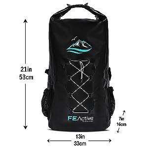 Backpack, Bag, Dry Bag, Dry Backpack, Waterproof Bag, Waterproof Backpack, Best Backpack, FE Active