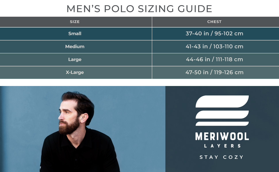 merino 190 polo shirts come in small, medium, large and extra large, they're ideal for anyone