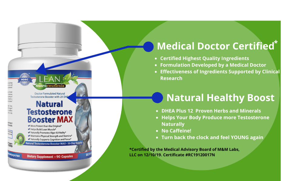 LEAN Natural Testosterone Booster for Men is MD Certified