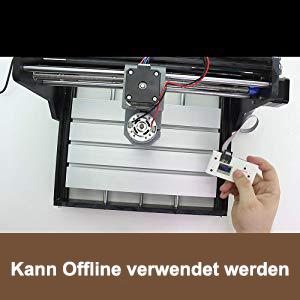 3 Achsen Kunststoff Acryl PCB PVC Fr/äse mit Offline Controller Upgrade CNC 3018 Pro Fr/äsmaschine Laser Graviermaschine,TTLIFE Holz Router Kit GRBL Steuerung DIY Mini CNC Maschine 3D Graviermaschine