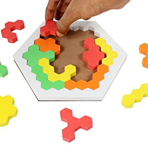 Hexagonal jigsaw Puzzle brain Teaser Booster Development TOys Leisure Travel Toys