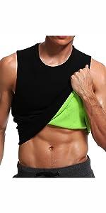 y9923Sauna Sweat Vest Mens Abs Chest Firm Control Slimming Quema Grasa Adelgazar