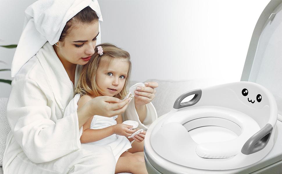Gr/ün Wc Sitz Kinder Kloaufsatz Kinder Passt f/ür Alle Toilettetyp BABYJEM Kinder Toilettensitz