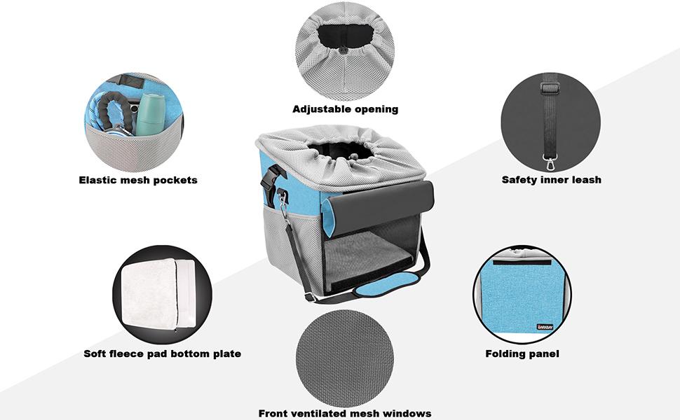 dog shoulder bag with mesh venting