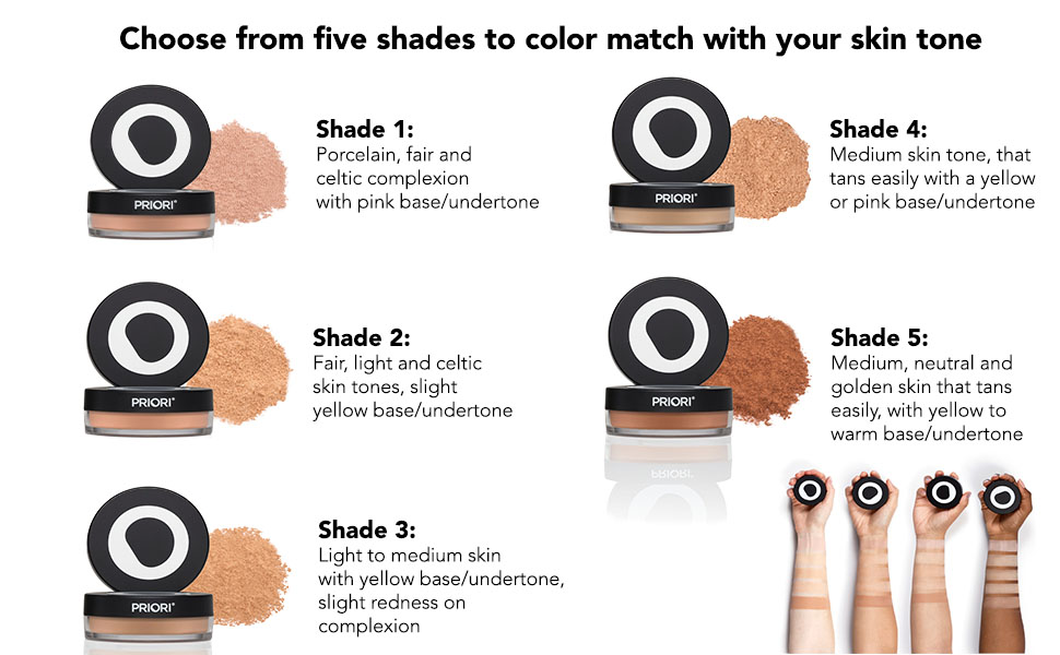 prioru advances sunscreen powders minerals face men make-up women beauty gifts glow beautiful skin