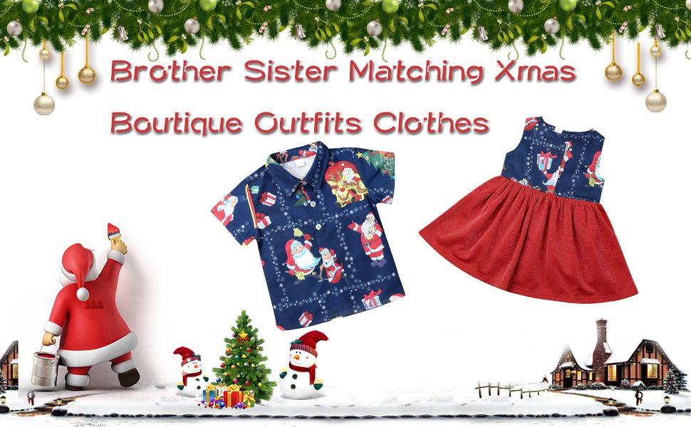 Smocked Santa Matching Santa Outfit Matching Sibling Christmas Sister Brother Santa Coordinating Chrismtas Outfits Santa Outfits