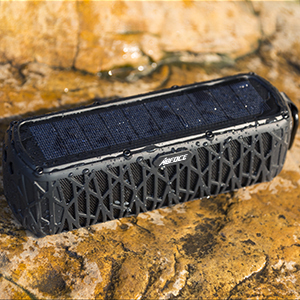 3  ABFOCE Solar Bluetooth Speaker Portable Outdoor Bluetooth IPX6 Waterproof Speaker with 5000mAh Power Bank,60 Hours Play Time Dual Speaker with Mic, Stereo Sound with Bass Home Wireless Speaker-Black fa3224de d947 4d51 b83e b23c697ad1df