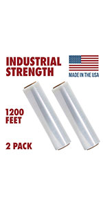 Pallet Shrink Wrap, 80 Gauge Industrial Strength, Commercial Grade Strength Film