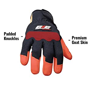 Glove is a blend of premium grade A leathers and has padded knuckles for comfort