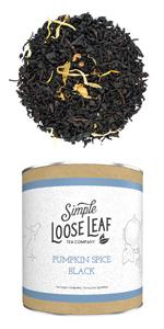 pumpkin spice black loose leaf tea fall autumn