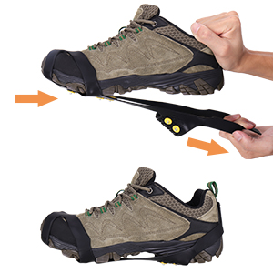 Tevlaphee Crampones,Racos de Hielo Tracción Antideslizante Más de Zapatos/para 15 Tacos Nieve Hielo Grips Crampones Tacos Picos,fácil de Poner