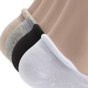 no show socks seamless beige silicone