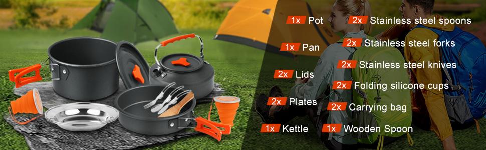 18pcs cookware kit