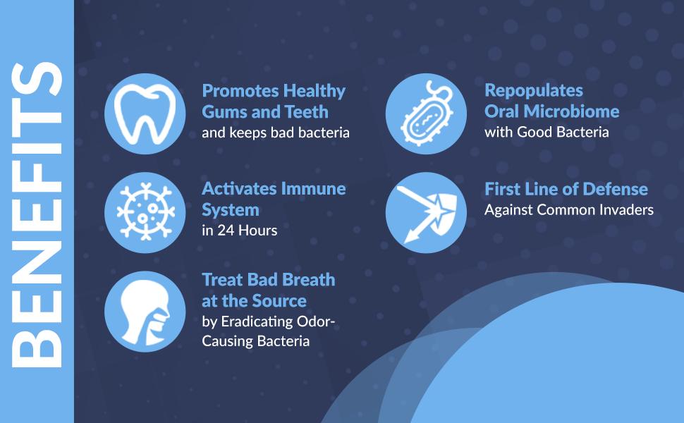 Benefits of oral health dental probiotics