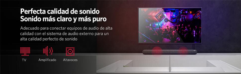UGREEN Cable RCA Macho Macho, 2RCA a 2RCA Cable Audio Estéreo, Cable Cinch 2XRCA Enchufe a 2XRCA Enchufe Compatible con Altavoz Amplificador HiFi Sistema Home Cinema HDTV Reproductor de CD/DVD 3Metros: Amazon.es:
