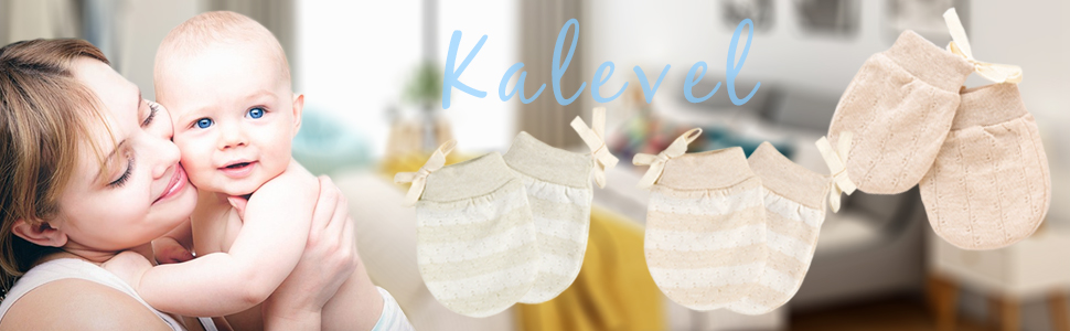 0-Kalevel 3 pairs newborn baby gloves