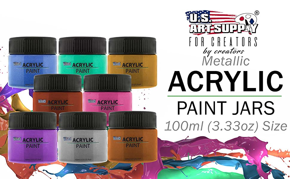 Metallic Acrylic Paint Jars