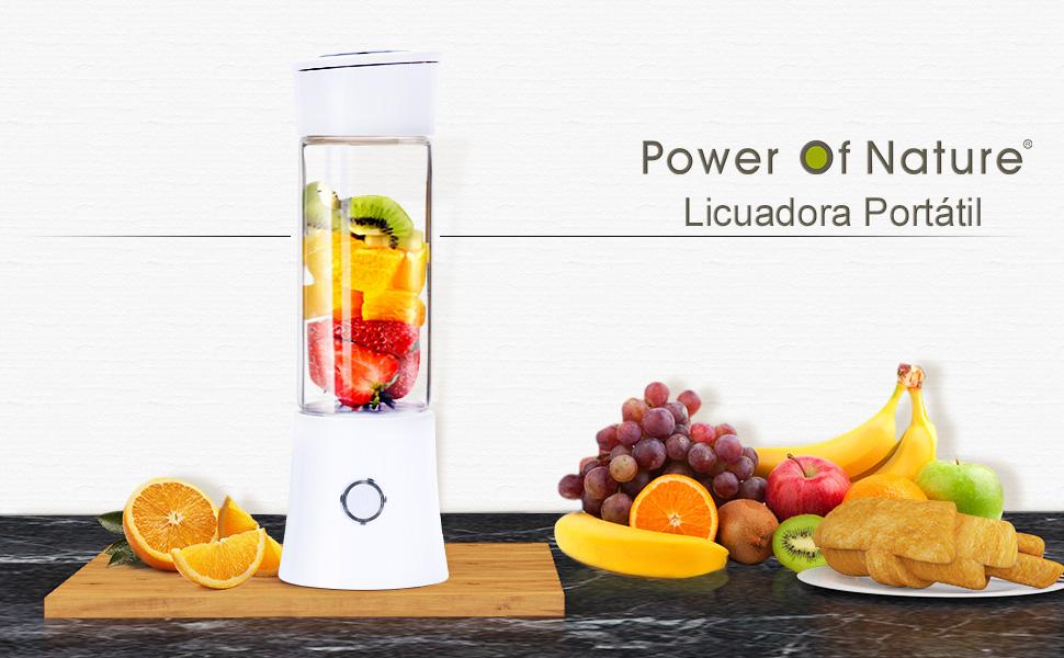 Power Of Nature Licuadora Portátil, Licuadora de Batido con 480 ml ...