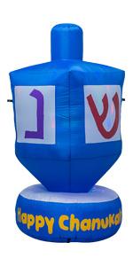 AJY 6 FT Giant Hanukkah Dreidel Inflatable