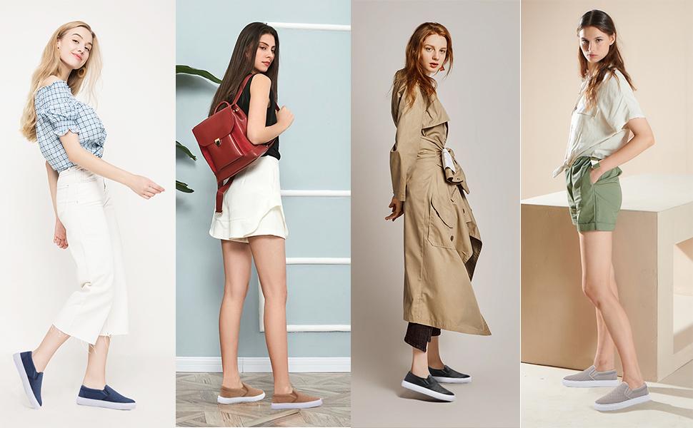 fashion slip on sneakers