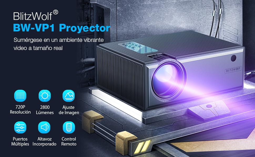 Proyector, BlitzWolf 2019 Mini Proyector Portátil Actualizado con ...