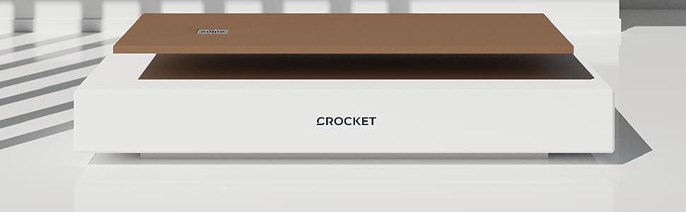 Crocket Plato de Ducha de Resina Ebro - Textura Pizarra y Antideslizante - Acabado Brillo - Todas Las Medidas Disponibles - Incluye Sifón y Rejilla - Blanco RAL 9003-70 x 70: Amazon.es: Bricolaje y herramientas