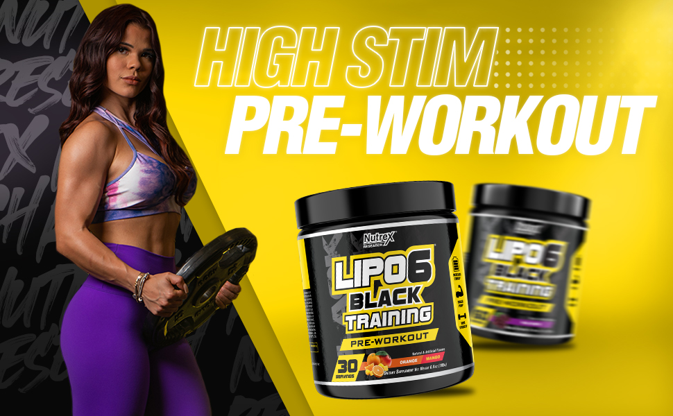 Amazon.com: Nutrex Research Lipo-6 Black Training Pre-Workout | High Stim  Pre-Workout for Enhanced Energy, Pump, and Focus | 30 Servings (Orange  Mango): Health & Personal Care