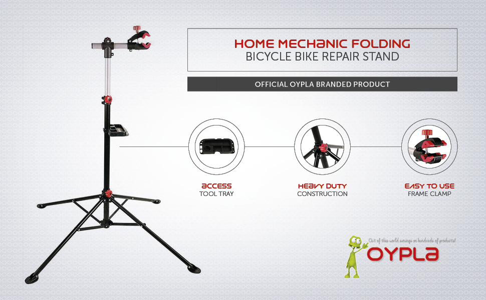 Oypla Heavy Duty Black Pro Home Mechanic Folding Bicycle Bike Cycle Repair Maintenance Stand