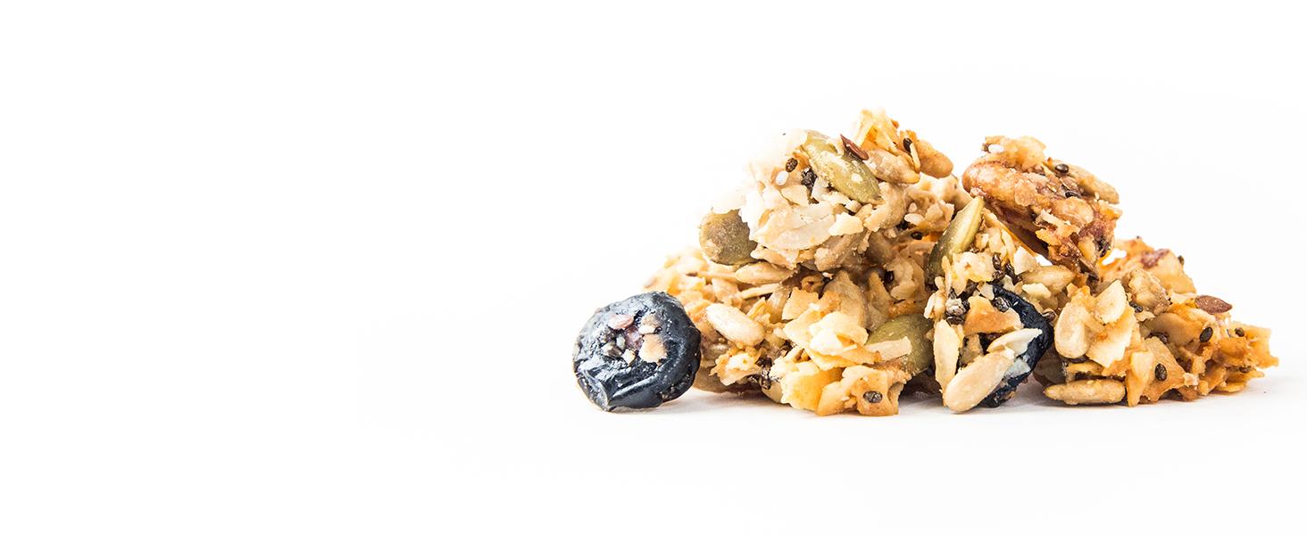 lemon blueberry tart keto granola