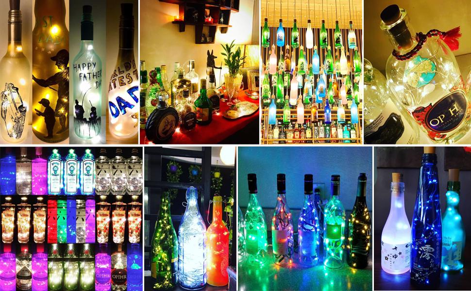lights for wine bottle