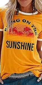 t-shirt donna maniche corte maglietta manica corta tee camicetta casual camicia ragazza stampa top