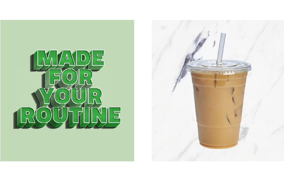 plastic cups with lids smoothie cups milkshake iced coffee cup