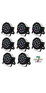 Flashandfocus.com fa68d3f4-ce17-46ac-9bd9-0c2e8588686d.__CR0,4,1600,3200_PT0_SX150_V1___ SUNCOO 4/8/12 Packs 18 LEDs Par Light DMX Uplights LED Stage Lighting RGB Lighting 7 Modes DMX Lighting Controlled Sound…