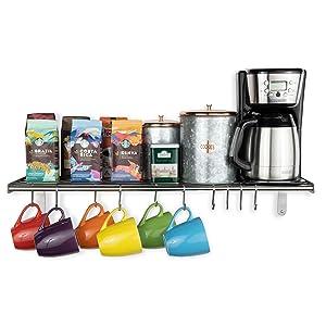 mug holders for counter mug organizer for kitchen cabinets coffee mug shelfcoffee mug wall rack
