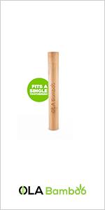 OLA Bamboo Toothbrush Travel Case