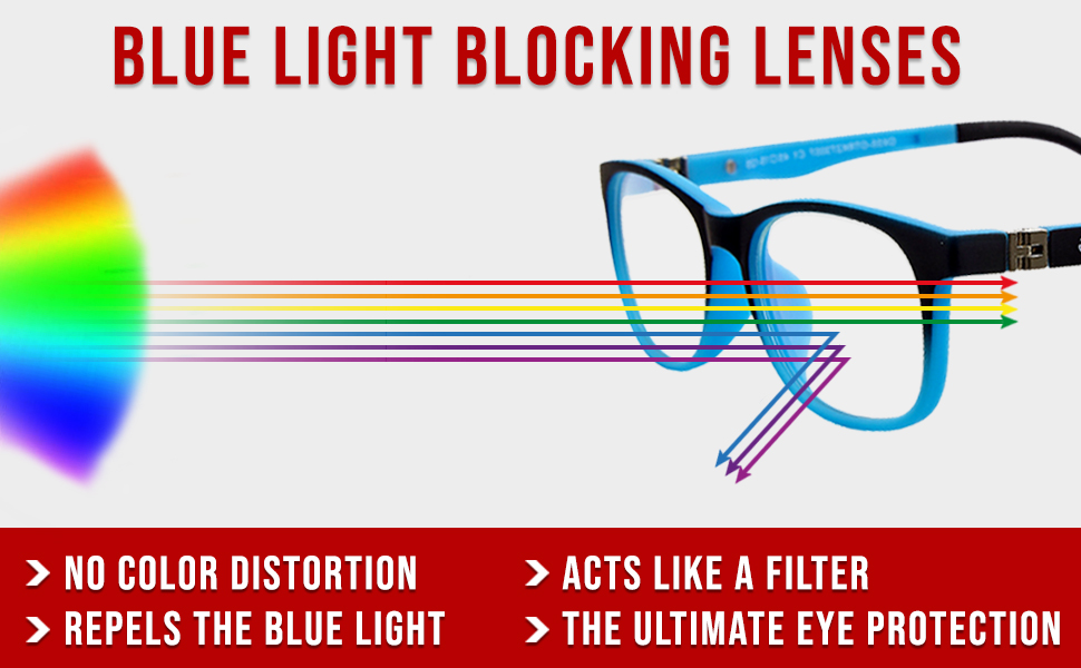 Children blue light blocker glasses