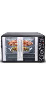 Turbotronic Mini four à pizza avec chaleur tournante et minuteur.