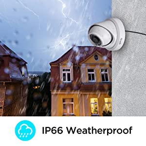 IP66 Waterproof IP Dome Camera 8MP