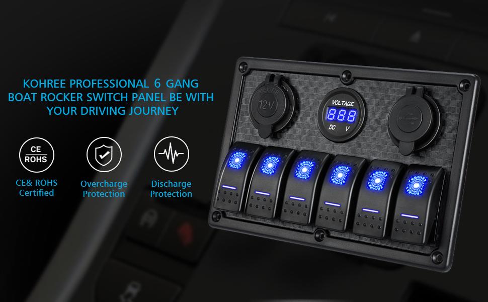 boat rocker switch panel