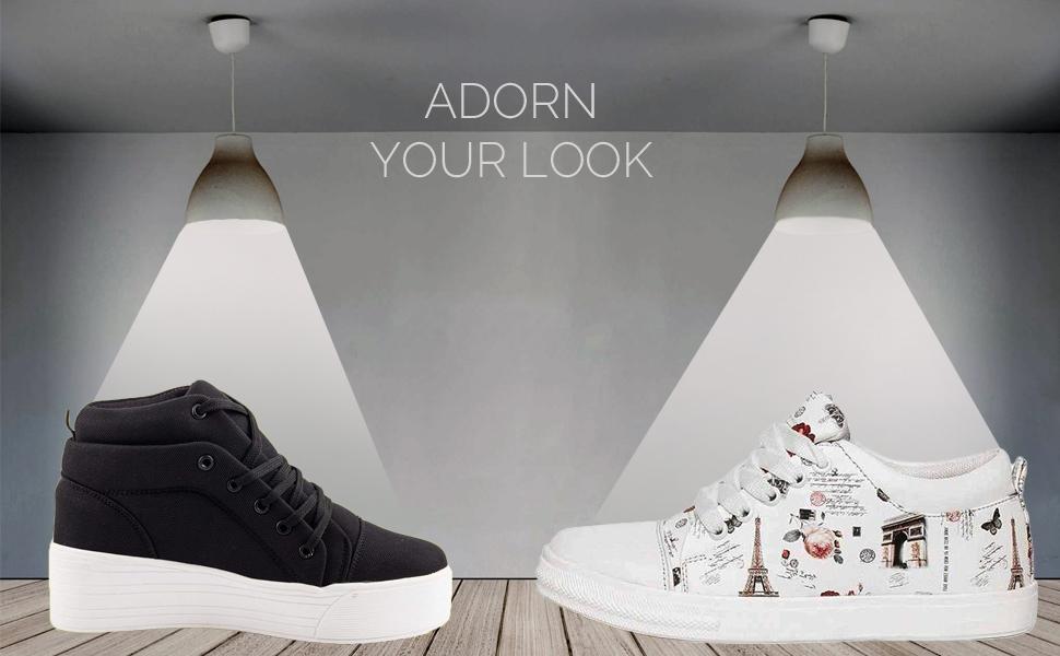 Prasking Combo Sneaker Shoes for Women