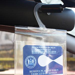 handicap placard cover