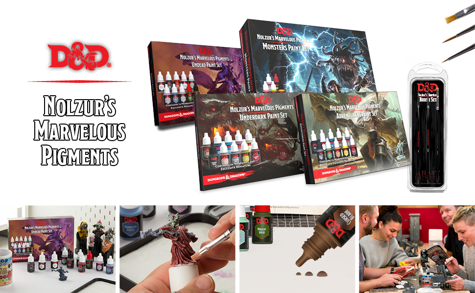 Dungeons and Dragons Nolzurs Marvelous Pigments official paint series
