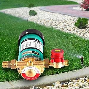 Pompes de chauffage central SHYLIYU Pompe de circulation automatique deau chaude 100 W//10 bar Pour syst/ème de chauffage solaire Douche et robinet 100W//10bar//0.75inch